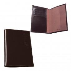 """Обложка для паспорта BEFLER """"Classic"""", натуральная кожа, тиснение """"Passport"""", коричневая, O.23.-1"""