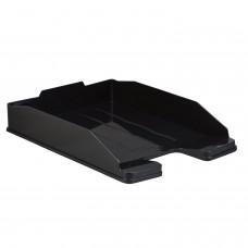 """Лоток горизонтальный для бумаг СТАММ """"Эксперт-эконом"""", А4 (340х255х63 мм), полипропилен, черный, ОФ444"""