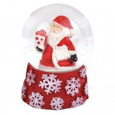 """Фигурка сувенирная """"Снежный шар СНЕЖИНКИ"""", полистоун/стекло, диаметр 45 мм, ЗОЛОТАЯ СКАЗКА, 590901"""