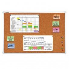 Доска пробковая для объявлений (60х90 см), алюминиевая рамка, ГАРАНТИЯ 10 ЛЕТ, РОССИЯ, BRAUBERG, 231712