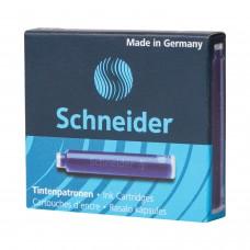 Картриджи чернильные SCHNEIDER (Германия), комплект 6 шт., картонная коробка, кобальтовые синие, 6603