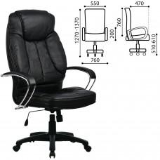 """Кресло офисное МЕТТА """"LK-12PL"""", экокожа, черное"""