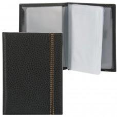 """Бумажник водителя FABULA """"Brooklyn"""", натуральная кожа, отстрочка, 6 пластиковых карманов, черный, BV.70.BR"""