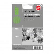 Картридж струйный CACTUS (CS-CLI471XLGY) для CANON PIXMA MG5740/6840/7740, серый, ресурс 2000 стр.