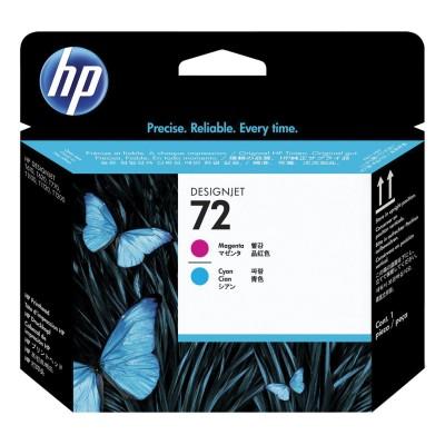 Головка печатающая для плоттера HP (C9383A) Designjet T610/795/1100 и др,. №72, пурпурная и голубая, оригинальная
