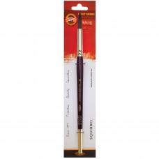 Кисть художественная KOH-I-NOOR белка, круглая, №16, короткая ручка, блистер, 9935016017BL
