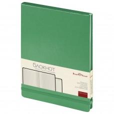 Блокнот А5 (144х212 мм), 100 л., твердая обложка, балакрон, открытие вверх, BRUNO VISCONTI, Зеленый, 3-103/03