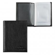 """Бумажник водителя BEFLER """"Грейд"""", натуральная кожа, тиснение, 6 пластиковых карманов, черный, BV.1.-9"""