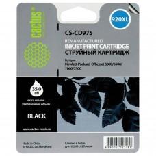 Картридж струйный CACTUS (CS-CD975) для HP Officejet 6000/6500/7000, черный, 35 мл