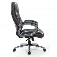"""Кресло офисное BRABIX PREMIUM """"Strong HD-009"""", НАГРУЗКА до 200 кг, экокожа черная, ткань серая, 531945"""