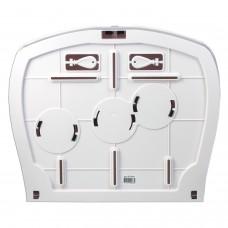 Диспенсер для туалетной бумаги ЛАЙМА PROFESSIONAL (Система T1/T2), большой, белый, ABS-пластик, 601428