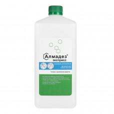 Антисептик кожный дезинфицирующий спиртосодержащий (63%) 1 л АЛМАДЕЗ-ЭКСПРЕСС, готовый раствор, крышка, АЭ-503