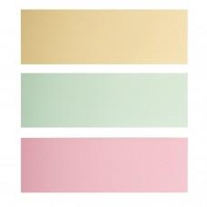 Закладки клейкие BRAUBERG ПАСТЕЛЬНЫЕ, бумажные, 76х25 мм, 3 цвета х 100 листов, европодвес, 124812