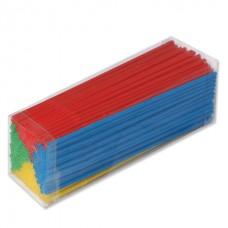 Одноразовые трубочки для коктейля, КОМПЛЕКТ 250 шт., L=240 мм, d=5 мм, гофрированные, разноцветные, 1502-0538