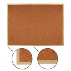 Доска пробковая для объявлений (90х120 см), деревянная рамка, ГАРАНТИЯ 10 ЛЕТ, РОССИЯ, BRAUBERG, 236861