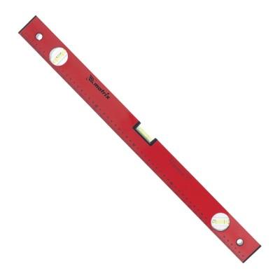 Уровень 600 мм MATRIX 3 глазка, линейка, алюминиевый, красный, 33223