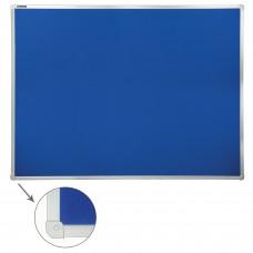 Доска c текстильным покрытием для объявлений (90х120 см) синяя, ГАРАНТИЯ 10 ЛЕТ, РОССИЯ, BRAUBERG, 231701