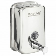 Диспенсер для жидкого мыла LAIMA PROFESSIONAL INOX (гарантия 3 года), 0,5 л, нержавеющая сталь, зеркальный, 605394