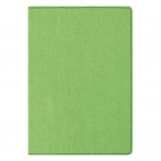 "Блокнот А5 (148х213 мм), BRAUBERG ""Tweed"", 112 л., под ткань, линия, зеленый, 110968"