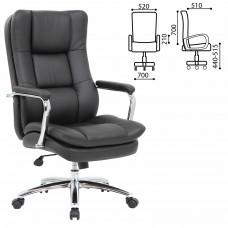 """Кресло офисное BRABIX PREMIUM """"Amadeus EX-507"""", экокожа, хром, черное, 530879"""