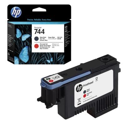 Головка печатающая для плоттера HP (F9J88A) Designjet Z2600/Z5600 №744 черный матовый/красный, оригинальный