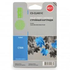 Картридж струйный CACTUS (CS-CLI451C) для CANON Pixma iP7240, голубой