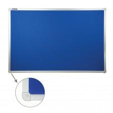 Доска c текстильным покрытием для объявлений(60х90 см) синяя, ГАРАНТИЯ 10 ЛЕТ, РОССИЯ, BRAUBERG, 231700