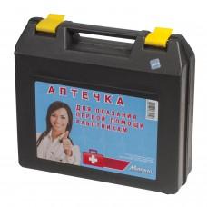 Аптечка первой помощи работникам, до 5 человек, переносной пластиковый футляр, состав - по приказу №169н, 10099