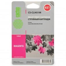 Картридж струйный CACTUS (CS-CLI451M) для CANON Pixma iP7240, пурпурный