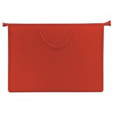 Папка для рисунков и чертежей А3, ручки-шнурок, пластик, молния сверху, ПИФАГОР, красная, 228228