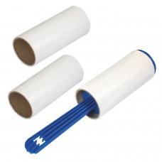 Ролик для чистки одежды и удаления ворса + 2 сменных блока по 20 листов, экстра липкость, ЛАЙМА, 605399