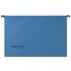 Подвесные папки А4/Foolscap (406х245 мм), до 80 листов, КОМПЛЕКТ 10 шт., синие, картон, BRAUBERG (Италия), 231793