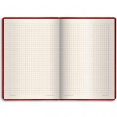 """Блокнот А5 (148х218 мм), BRAUBERG """"Income"""", 128 л., гладкий кожзаменитель, клетка, красный, 125209"""