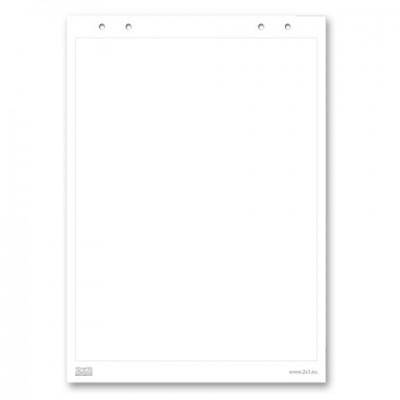 """Блокнот для флипчарта """"2х3"""" (""""Дважды три"""", Польша), 20 листов, чистый, 66х99 см, B04"""