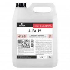 Средство для уборки после строительства 5 л, PRO-BRITE ALFA-19, кислотное, концентрат, 013-5