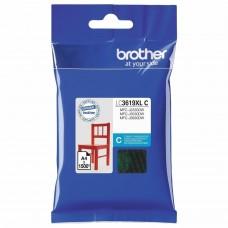 Картридж струйный BROTHER (LC3619XLC) для MFC-J3530DW/J3930DW, голубой, оригинальный, ресурс 1500 страниц