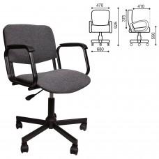 Кресло КР08, с подлокотниками, серое, КР01.00.08-102-