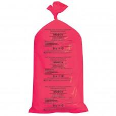 Мешки для мусора медицинские, в пачке 20 шт., класс В (красные), 100 л, 60х100 см, 15 мкм, АКВИКОМП