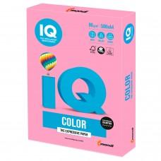 Бумага цветная IQ color, А4, 80 г/м2, 500 л., пастель, розовая, PI25