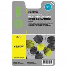 Картридж струйный CACTUS (CS-C4838A) для HP DesignJet 70/100/110/120, желтый, 29 мл