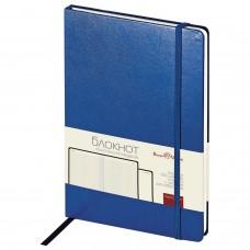Блокнот А5 (142х214 мм), 100 л., твердая обложка, балакрон, на резинке, BRUNO VISCONTI, Синий, 3-101/01