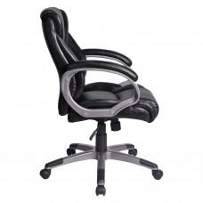 """Кресло офисное BRABIX """"Eldorado EX-504"""", экокожа, черное, 530874"""