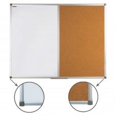 Доска комбинированная: магнитно-маркерная, пробковая для объявлений (90х120 см), РОССИЯ, BRAUBERG, 236865