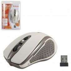 Мышь беспроводная DEFENDER Safari MM-675, 4 кнопки + 1 колесо-кнопка, оптическая, бежевая, 52677