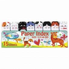 """Закладки клейкие CENTRUM """"Кошки"""" бумажные, 48х15 мм, 8 цветов х 15 листов, 88549"""