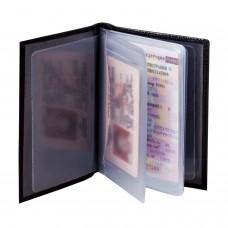 """Бумажник водителя BEFLER """"Ящерица"""", натуральная кожа, тиснение, 6 пластиковых карманов, черный, BV.1-3"""