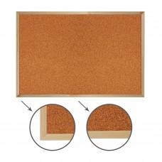 Доска пробковая для объявлений (60х90 см), деревянная рамка, ГАРАНТИЯ 10 ЛЕТ, РОССИЯ, BRAUBERG, 236860