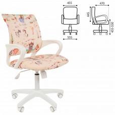 """Кресло детское СН KIDS 103, с подлокотниками, розовое с рисунком """"Принцессы"""", 7027828"""