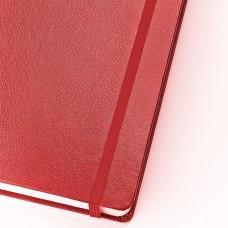 Блокнот А5 (144х212 мм), 100 л., твердая обложка, балакрон, открытие вверх, BRUNO VISCONTI, Красный., 3-103/04