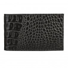 "Визитница карманная BEFLER ""Кайман"", на 40 визиток, натуральная кожа, крокодил, черная, V.30.-13"